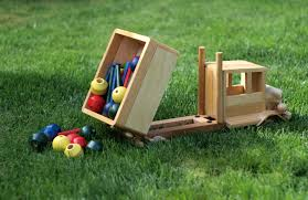eco friendly children u0027s toy wooden dump truck medium car