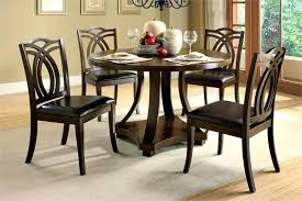 Black Round Kitchen Table Compact Dining Table 4 Chairs U2013 Mitventures Co