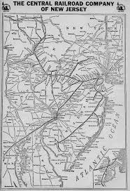 Boston Rail Map by The Central Railroad Of New Jersey