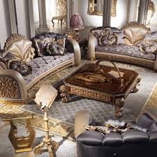 china sofa set designs european style luxury imperial flower decorative living room set