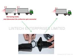 12 24v dc truck trailer backup camera system with 7 pin spring