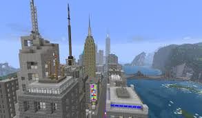 New York City Map For Minecraft by Manhattan New York City Minecraft Project