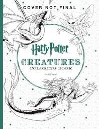 harry potter creatures coloring book scholastic 9781338030006