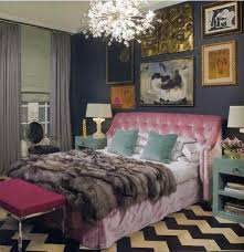 Pink And White Chevron Curtains Pink Chevron Curtains Contemporary Bedroom Thom Filicia