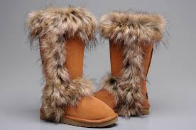 ugg australia charity sale ugg fox fur boots 5815 chestnut for sale 114 00