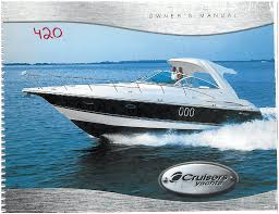 cruisers yachts 420 express series owner s manual