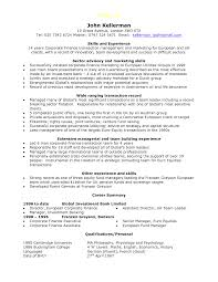 Finance Executive Resume Finance Manager Resume Resume For Your Job Application