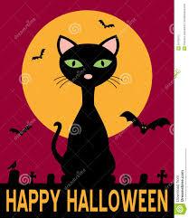happy halloween cat red