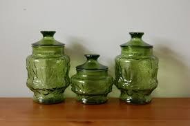 Glass Kitchen Canisters Antique Kitchen Canisters Old Dutch 3 Pc Antique Embossed