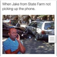 Meme Telephone - jake from state farm black guy on the phone know your meme