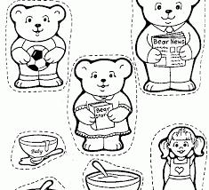 goldilocks and the three bears coloring goldilocks and the three