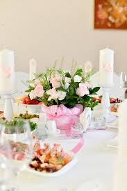 Candle Holders Decorated With Flowers Wedding Table Setting Decoration Candle Holder White Candle