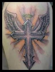 cross tattoo with banner the best banner 2017