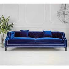 deep blue velvet sofa imperial sofa 3 seater blue velvet sofa french sofa and bedroom