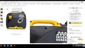 amazon deal of the day wen 2000 watt inverter generator youtube