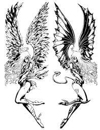gemini angel n devil wings tattoo design photo 1 real photo