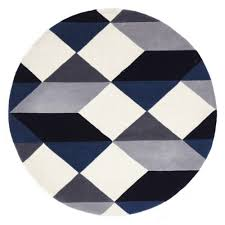 Blue Rug Runners For Hallways Digital Designer Wool Rug Blue Grey White Free Shipping Australia