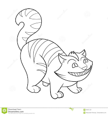 cheshire cat coloring book vector illustration stock vector