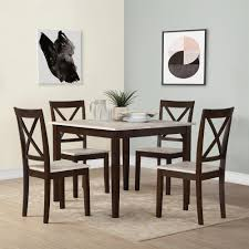 dorel sunnybrook rustic 5 piece espresso dining set fa7514 the