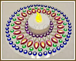 trupti u0027s craft kundan rangoli candle holder
