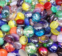 Vase Stones 50 Mixed Colors Glass Gems Stones Mosaic Pebbles Centerpiece