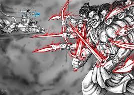 artstation lord rama u0026 hanuman vs demon king ravana arun nair