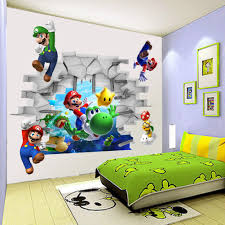 3d view super mario games art kids room decor wall sticker wall aeproduct getsubject