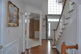 Decorating An Open Floor Plan Help With Paint In A 2 Story Foyer With An Open Floor Plan Mirror