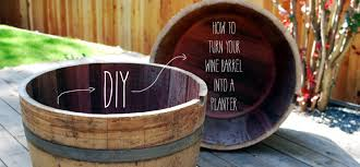 diy how to turn your wine barrel into a planter