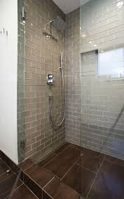 glass tile bathroom ideas bathroom chagne glass subway tile shower floors bathroom