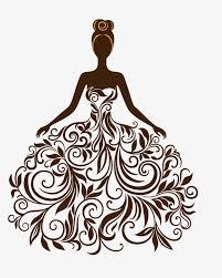 creative wedding silhouette vector material creative wedding