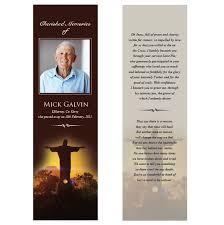 memorial bookmarks funeral obituary bookmark template
