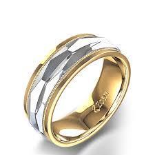 wedding ring men men s honeycomb wedding ring in two tone gold