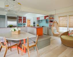 clever kitchen design a clever swivel creates more seating a look inside u2014 kochman