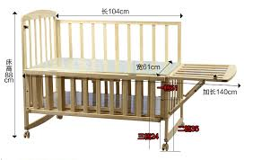 multi functional 3 levels adjustable portable baby cribs wooden