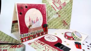 gift card snow globe how to heat emboss acetate christmas snow globe shaker card