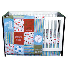 amazon com trend lab little mvp 3 piece crib bedding set boy