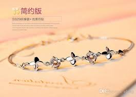 personalized bracelets for personalized name catenary bracelets anklets 925 silver four