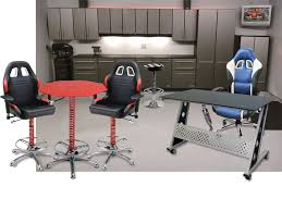 garage table and chairs racing inspired furniture pitsstop furniture