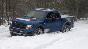 Ford Raptor Off Road - off road deep snow toyota tundra hard stuck ford raptor helps