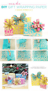 custom gift wrap make diy gift wrapping paper using stencils stencil stories