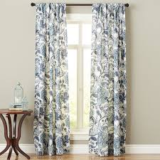 pier one floor ls floral curtain indigo meadow pier 1 imports walls and windows