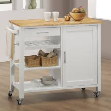 kitchen room home styles monarch roll out leg kitchen cart w