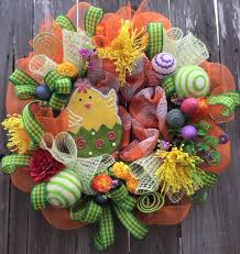 Easter Decorations With Deco Mesh by 194 Best Centerpieces U0026 Wreaths Easter Images On Pinterest