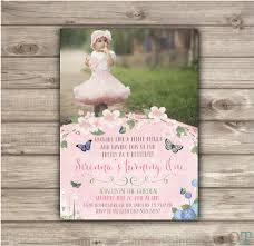 butterfly garden birthday invitations printable first birthday
