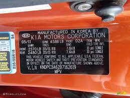 2011 sportage color code d2a for techno orange photo 86548524