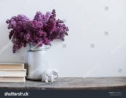 home interior deco home interior decor bouquet lilacs vase stock photo 275063015