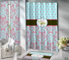 Colored Shower Curtain Shower Teal Colored Shower Curtains Delight Chrome Curtain Rods