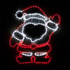 outdoor decoration 28 led waving santa and white lights