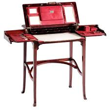 Folding Secretary Desk by French Art Nouveau Folding Secretary In Solid Mahogany